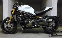 Ducati Monster 1200S - Crystal White (MotoTracer.com) Tags: white monster crystal 1200 ducati roadster 145 1200s termignoni