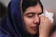 Birmingham: Nobel Prize winner Malala Yousafzai wipes away tears as she listens to eye witness accounts of the Taliban attack on the Army Public School in Peshawar (legend_news) Tags: she school eye public army birmingham tears attack away winner peshawar prize taliban nobel witness wipes malala accounts listens yousafzai