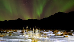 Black Mountains D151372 (icelander) Tags: winter lake snow night john lights one iceland headlights aurora yoko lennon carlights borealis kleifarvatn peacelight