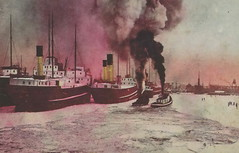 """SHIP Duluth MN Great Lakes Steamer Freighters and dependable Tug Boats Breaking Ice at Duluth Harbor a Winter Safe Harbor for many ship in the Maritime Carrie Fleet c.19072 (UpNorth Memories - Donald (Don) Harrison) Tags: travel usa heritage history tourism st vintage antique michigan postcard memories restaurants hotels trailer roadside upnorth steamship cafes excursion attractions motels mackinac cottages cabins campgrounds city"""" bridge"""" island"""" """"car upnorthmemories rppc wonders"""" """"big """"railroad """"michigan memories"""" mac"""" """"state parks"""" entertainment"""" """"natural harrison"""" """"roadside ferry"""" """"travel """"don """"tourist """"mackinaw puremichigan stops"""" """"upnorth straits"""" ignace"""""""