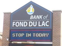 Signarama Fond du Lac, WI | Electronic Message Center | Bank of Fond du Lac