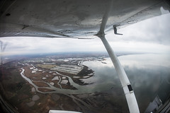 Flying over Arcachon Bay : Atlantic Ocean : Cap Ferret : Pila : Ile aux oiseaux : Cessna C172 (Benjamin Ballande) Tags: ocean bay ferret flying over ile atlantic cap aux cessna arcachon oiseaux pila c172