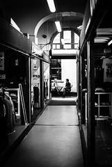 Al Fresco Dining (framespotter) Tags: street light people blackandwhite bw blancoynegro monochrome composition contrast bristol table nikon shadows outdoor highcontrast dining d200 nikkor talking stnicholasmarket noireblanc