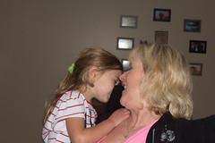 Elizabeth and super shy Lexi (BunnyBear13) Tags: nikkor people mother child manuallens 50mmf14 vintagelens