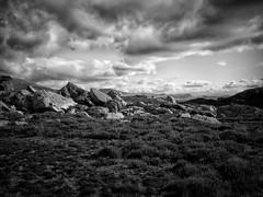 Horizons (1) (Missy Jussy) Tags: nationalpark rocks landscape land hills heather horizon views walkinglandscape moodylandscape atmosphere sky clouds garndolbenmaen gwynedd canon blackwhite blackandwhite mono monochrome bw