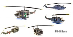 UH-1H Huey (2) ([Maks]) Tags: lego moc huey vietnam helicopter uh1 uh 1 bell military war uh1h minifg scale rotor