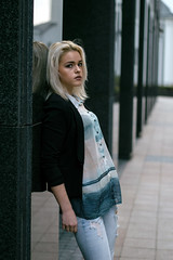 (mishacherkasov) Tags: girl city street girls photo nikon nikond3200 nikonfamily streetportrait streetphoto blonde portrait color colorful rhythm green walls moscow