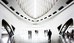 Milwaukee Art Museum - Into the Light (NikonD3xuser1(Thanks for 1.6 million visits)) Tags: usa wisconsin milwaukee milwaukeeartmuseum blackandwhite people room light contrast shadows