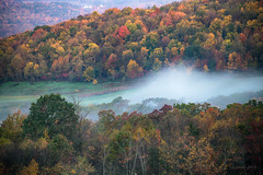Autumn Morning in Allegany County (Photons of Days Past) Tags: alleganycounty maryland frostburg ef70300mmf456isusm fall autumn trees leaves colors fog