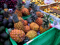 Tropical Fruits (Snapjacs) Tags: tenerife canaryislands spain europe travel holidays vacations sunshine wintersun summer tropical leisure exoticfruit tropicalfruit pineapples avocados plums apricots fruit healthy sweet supermarket shopping food