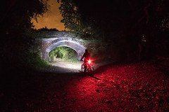 Night Rider v5.0 (Rob Pitt) Tags: night photography wirral way lightpainting bike lights cree led cheshire trees