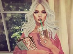 . rainy days . (. Charlotte .) Tags: sl second life entwined tres blah catwa rainy days books coffee