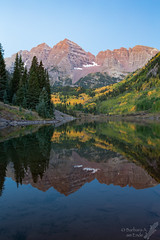 Pre-dawn at Maroon Bells (Squirrel Girl cbk) Tags: colorado september maroonbells autumn yellowaspen reflection 2016