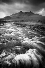 River Sligachan (Alja Vidmar | ADesign Studio) Tags: unitedkingdom landscape d800 nature blackandwhite longexposure river scotland polarizer isleofsyke drama
