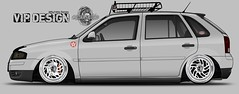 Volkswagen Gol 1.6 Mi Power Total Flex 8V 4p (gcaassianno) Tags: volks volkswagen low stance gol rebaixado camber thulle air nave