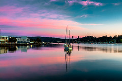 Every day should start this way.. (dmunro100) Tags: boat sea dawn cloud pink sunrise calm serene peaceful nsw newsouthwales batemansbay australia morning spring canon eos 80d canonefs1755mmf28isusm
