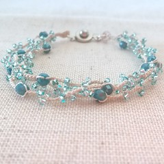 Crochet beaded multi strand bracelet (Anna Vinnitsky) Tags: crochetjewelry crochet bracelets crochetbracelet seawave