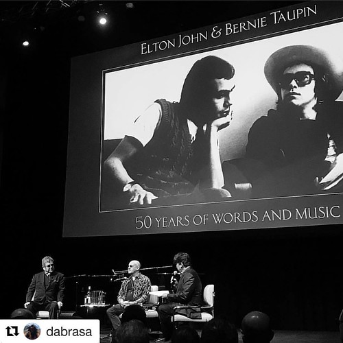 This was a pretty cool event to be a part of last night! #events #eventlife #sireltonjohn #girlboss #servers #bartenders #latergram #200ProofLA #200Proof @dabrasa with @repostapp ・・・ Sir Elton John and Bernie Taupin in an intimate discussion moderated by