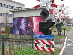 Streetart (streamer020nl) Tags: enschede 011216 2016 holland twente twenthe overijssel netherlands niederland paysbas nederland bertusgieskes oldenzaalsestraat streetart graffiti grafitti spoorwegovergang transformatorhuisje