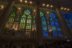 NH0A3904s (michael.soukup) Tags: barcelona sagradafamlia familia basilica church stainedglass color colorful windows nave interior gaudi churchoftheholyfamily catholicchurch artnouveau architecture neogothic spain catalonia