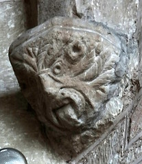 Linton. Herefordshire (Sheepdog Rex) Tags: corbels greenman stmaryschurch linton