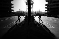x2 (maekke) Tags: zrich switzerland shadow availablelight highcontrast reflection man streetphotography shadows kreis5 x100t fujifilm 2016 ch bw noiretblanc