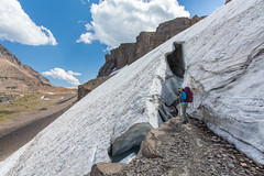 Her First Glacier (GlobalGoebel) Tags: canoneos5dmarkiii canonef24105mmf4lisusm 24105mm glacier grand teton national park wyoming hurricane pass tetoncresttrail