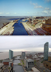 View from the Liver Building, 1980s and 2016 (Keithjones84) Tags: liverpool merseyside history localhistory thenandnow rephotography liverbuilding royalliverbuilding