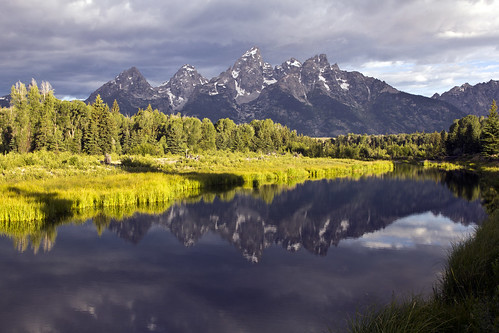 Sunrise on Tetons - Schwabacher's Landing