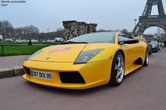 Lamborghini Murcielago (Monde-Auto Passion Photos) Tags: auto automobile lamborghini murcielago jaune coupé france rally paris evenement supercar sportive