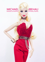 Agnes (Michaela Unbehau Photography) Tags: agnes von weiss aral ghostier httpswwwetsycomshoparalghostier fashion royalty fr fr2 blonde michaela unbehau fashiondoll doll dolls photography red wclub upgrade junpsuit aristocratic