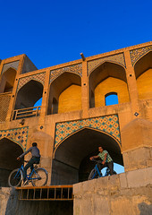 Teenagers riding on khaju bridge pol-e khaju, Isfahan province, Isfahan, Iran (Eric Lafforgue) Tags: ancient architectural architecture attraction bicycle blue bridge building city clearsky colorimage cultural day esfahan hispahan iran iranian isfahan ispahan khajubridge landmark leisureactivity middleeast orient outdoors persia photography riding sepahan shahabbas stone stony sunny tourism touristic traveldestinations unescoworldheritagesite urban vertical zayandeh isfahanprovince