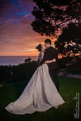 Wayfareres Chapel Wedding with beautiful sunst (clairexuphoto) Tags: wayfarerschaple palosverdes wayfarerschapelwedding sunsetatpalosverdes newlywed