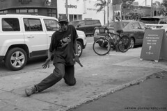 Dave (Tom Kavana) Tags: bw blackandwhite peoplebw portrait people miami wynwood man homeless dance gratitude