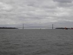 Verazano Narrows Bridge Sailing on the Staten Iisland Ferry New York November 2016 (1) (Richie Wisbey) Tags: moses bridge narrows verezano