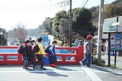 School Boys (Gai) Tags:    kamakura kanagawa japan  school boy   soccer  bridge