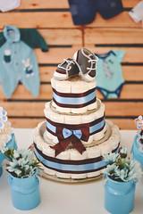 Bolo (d.stelamaris) Tags: bolo sapatinho menino boy beb fralda baby azul festa