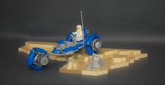 Classic space tricycle exploration vehicle (adde51) Tags: adde51 lego moc classic space classicspace tricycle moon racer speeder foitsop