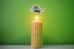 Our Rustic Pillar (Maskisland Farm) Tags: candle beeswax beeswaxcandle rustic pillarcandle wax maskislandfarm barrysbay gift