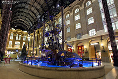 The Navigators by David Kemp (Nigel Blake, 13 MILLION...Yay! Many thanks!) Tags: thenavigators navigators davidkemp david kemp sculpture art hays galleria london haysgalleria southbank nigelblake nigelblakephotography public blue light night nighttime