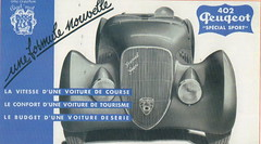 Peugeot 402 Darl'Mat special Sport (1938) (andreboeni) Tags: classic car automobile cars automobiles voitures autos automobili classique voiture retro auto oldtimer klassik classico classica publicity advert advertissement peugeot darlmat 402 special sport