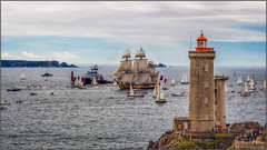 Frégate l'Hermione - French frigate l'Hermione (jyleroy) Tags: europe france bretagne brittany frenchbrittany finistère brest rade radedebrest roadstead roadsteadofbrest canon eos 700d rebel t5i mer sea océan ocean atlantique atlantic bâteau boat ngc nationalgeographicgroup fullrigged ship sailing vessel square rig squarerigged shiprigged frenchfrigatelhermione lafayette lhermione frigate frenchfrigate fullyriggedship hermione