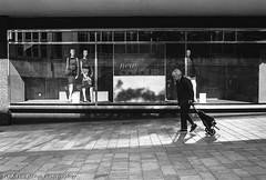 Time to shop (Rich Presswood) Tags: leica city blackandwhite bw white black film 35mm mono kodak sheffield trix rangefinder adobe f2 analogue m6 lightroom leitz konicamhexanon findtherangephotography