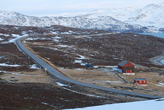 kargenes and the main road (solfridn) Tags: road nature norway barn landscape cabin nordic vei finnmark hytte fjs northernnorway byggning kargenes