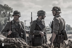 Awaiting Orders (Rich-Mate) Tags: show uk england people man soldier war uniform europe gun military leicester wwii rifle helmet location victory german ww2 soldiers battlefield gender weapons panzer cosby trenches 2015 victoryshow