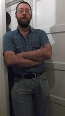 DSCF6684 (rugby#9) Tags: door shirt mirror belt jeans levis blackbelt whitedoor 501s denimshirt shortsleeveshirt levijeans levi501s 501jeans levi501 denimshortsleeveshirt