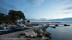 Porec city (Alex Verweij) Tags: city light sea holiday haven water canon boats boot evening boat zee boten 5d avond f8 porec kroatie citylight harber 17mm timeshot tijdopname haventje istrie alexverweij