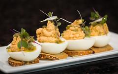 House Smoked Salmon Deviled Eggs (FAK CHAN SEN) Tags: ohio food tacos seafood medina appetizers fishtacos deviledeggs foodphotography smallplates tomnoe josephholmes modernamerican anthonyscolaro 111bistro tomnoephotography meghanpender oneelevenbistro