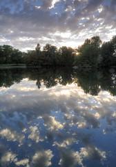 Pond in Julia Davis Park, Boise ID (PhotograTherapy (James Edmondson)) Tags: park sunset water reflections pond juliadavispark boiseid