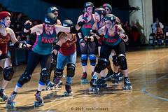 rebels_vs_panic_L3506704 1 (nocklebeast) Tags: ca usa santacruz rollerderby rollergirls zombies vampires skates organicpanic santacruzderbygirls redwoodrebels